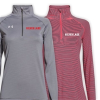 SILVER LAKE LADIES UNDER ARMOUR STRIPE TECH 1/4 ZIP