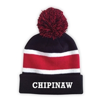 CHIPINAW STRIPED BEANIE WITH POM