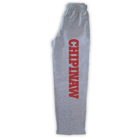 CHIPINAW OPEN BOTTOM SWEATPANTS WITH POCKETS