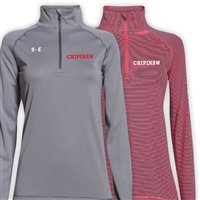 CHIPINAW LADIES UNDER ARMOUR STRIPE TECH 1/4 ZIP