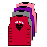 CHIPINAW CUSTOM DESIGN CUT OUT SIDE TEE BY ALI & JOE