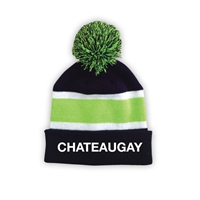 CHATEAUGAY STRIPED BEANIE WITH POM