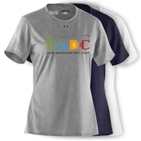 DEER MOUNTAIN DAY CAMP LADIES UNDER ARMOUR TEE