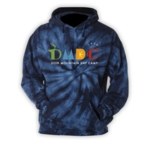 DEER MOUNTAIN DAY CAMP NAVY TIE DYE SWEATSHIRT