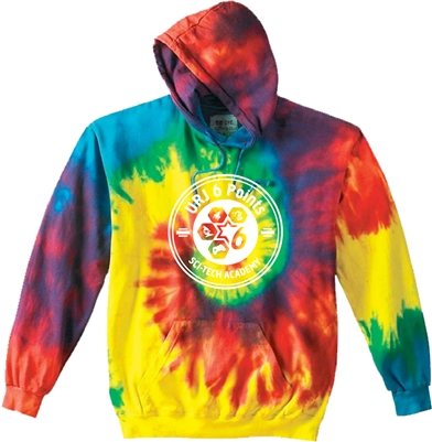 6 POINTS SWIRL TIE DYE SWEATSHIRT