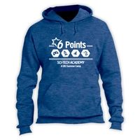 6 POINTS VINTAGE HOODED SWEATSHIRT