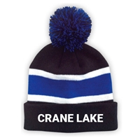 CRANE LAKE STRIPED BEANIE WITH POM