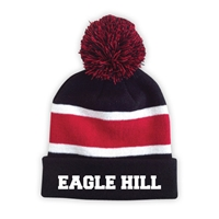 EAGLE HILL STRIPED BEANIE WITH POM