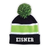EISNER STRIPED BEANIE WITH POM