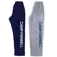 CAMP FARWELL OPEN BOTTOM SWEATPANTS WITH POCKETS