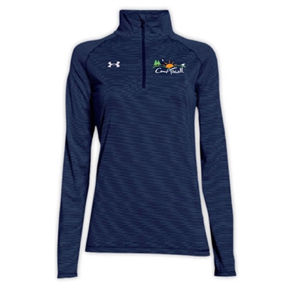 CAMP FARWELL LADIES UNDER ARMOUR STRIPE TECH 1/4 ZIP