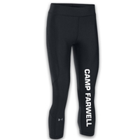 CAMP FARWELL LADIES UNDER ARMOUR HEAT GEAR ARMOUR CAPRI