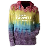 CAMP FARWELL COURTNEY BURNOUT V-NOTCH SWEATSHIRT