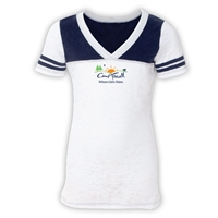 CAMP FARWELL SPORTY BURNOUT V-NECK