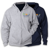 CAMP FARWELL FULL ZIP HOODED SWEATSHIRT