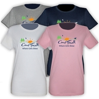CAMP FARWELL GIRLS FITTED TEE