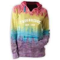 FROGBRIDGE COURTNEY BURNOUT V-NOTCH SWEATSHIRT