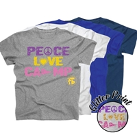 FROGBRIDGE PEACE, LOVE, CAMP COTTON TEE BY LUXEBASH