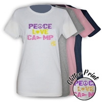 FROGBRIDGE PEACE, LOVE, CAMP GIRLS FITTED TEE