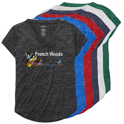 FRENCH WOODS RELAXED HEATHER V-TEE