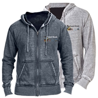 FRENCH WOODS UNISEX BURNOUT HOODY
