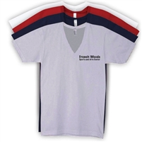 FRENCH WOODS SPORTS & ARTS AMERICAN APPAREL UNISEX JERSEY V-NECK TEE