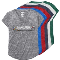 FRENCH WOODS SPORTS & ARTS RELAXED HEATHER V-TEE
