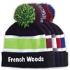 FRENCH WOODS STRIPED BEANIE WITH POM