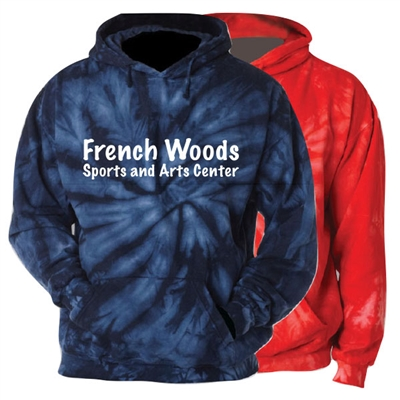 FRENCH WOODS SPORTS & ARTS TIE DYE SWEATSHIRT