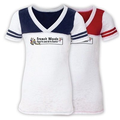 FRENCH WOODS SPORTS & ARTS SPORTY BURNOUT V-NECK