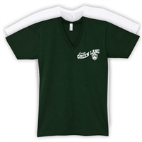 GREEN LANE AMERICAN APPAREL UNISEX JERSEY V-NECK TEE