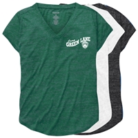 GREEN LANE RELAXED HEATHER V-TEE