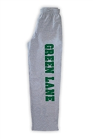 GREEN LANE OPEN BOTTOM SWEATPANTS WITH POCKETS