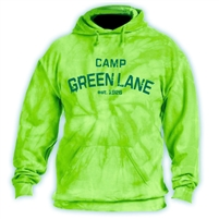GREEN LANE LIME TIE DYE HOODY