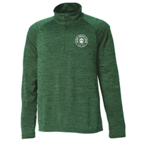 GREEN LANE LADIES INTENSIFY HEATHER 1/4 ZIP PULLOVER
