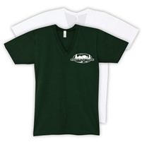GREENWOOD AMERICAN APPAREL UNISEX JERSEY V-NECK TEE