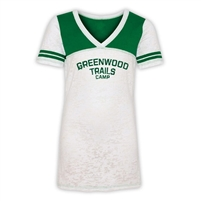 GREENWOOD SPORTY BURNOUT V-NECK