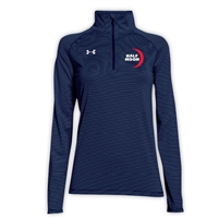 HALF MOON LADIES UNDER ARMOUR STRIPE TECH 1/4 ZIP