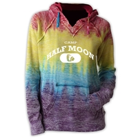 HALF MOON COURTNEY BURNOUT V-NOTCH SWEATSHIRT