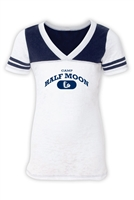 HALF MOON SPORTY BURNOUT V-NECK