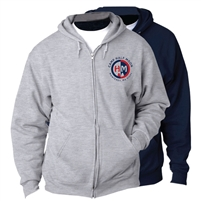 HALF MOON FULL ZIP HOODED SWEATSHIRT