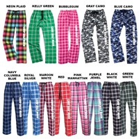 HALF MOON FLANNEL PANTS