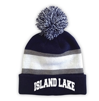ISLAND LAKE STRIPED BEANIE WITH POM