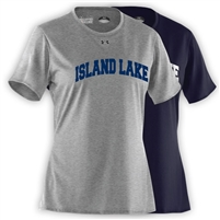 ISLAND LAKE LADIES UNDER ARMOUR TEE