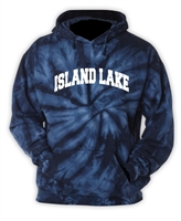 ISLAND LAKE NAVY TIE DYE SWEATSHIRT