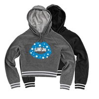 ISLAND LAKE CUSTOM LADIES STADIUM CROPPED HOODIE