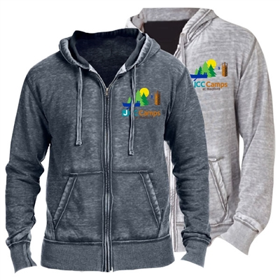 JCC CAMPS <u><b>At Medford</b></u> UNISEX BURNOUT HOODY