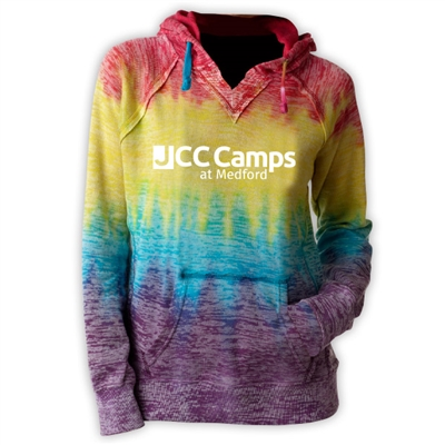 JCC CAMPS <u><b>At Medford</b></u> COURTNEY BURNOUT V-NOTCH SWEATSHIRT