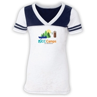 JCC CAMPS <u><b>At Medford</b></u>  SPORTY BURNOUT V-NECK
