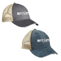 JCC CAMPS OLLIE DISTRESSED HAT